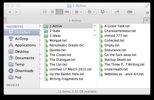 My folder organization